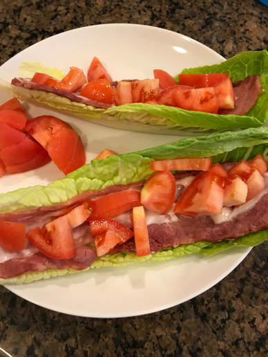 Creamy BLT Wraps, satisfies that bacon craving!