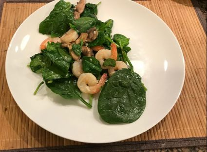 Warm Shrimp Salad with Spinach, 2 SP, Weight Watchers